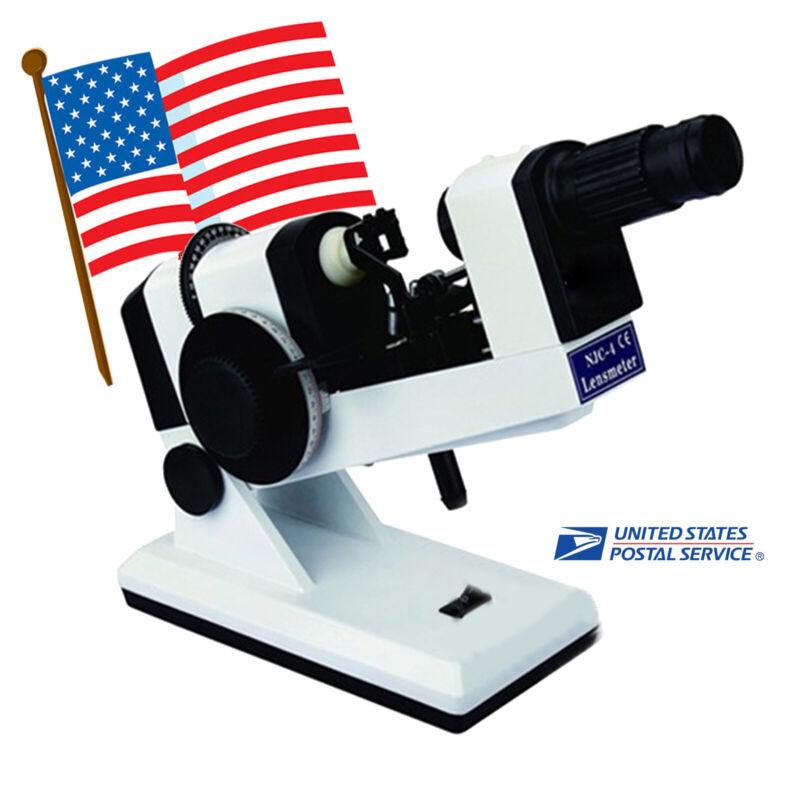 Manual lensometer Optical lensmeter Internal reading Prism unit included Usa!!!