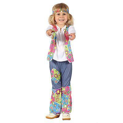 Hippie Kleinkind Kostüme (Hippie-Mädchen-Kleinkind, Kostüm Childs #DE)