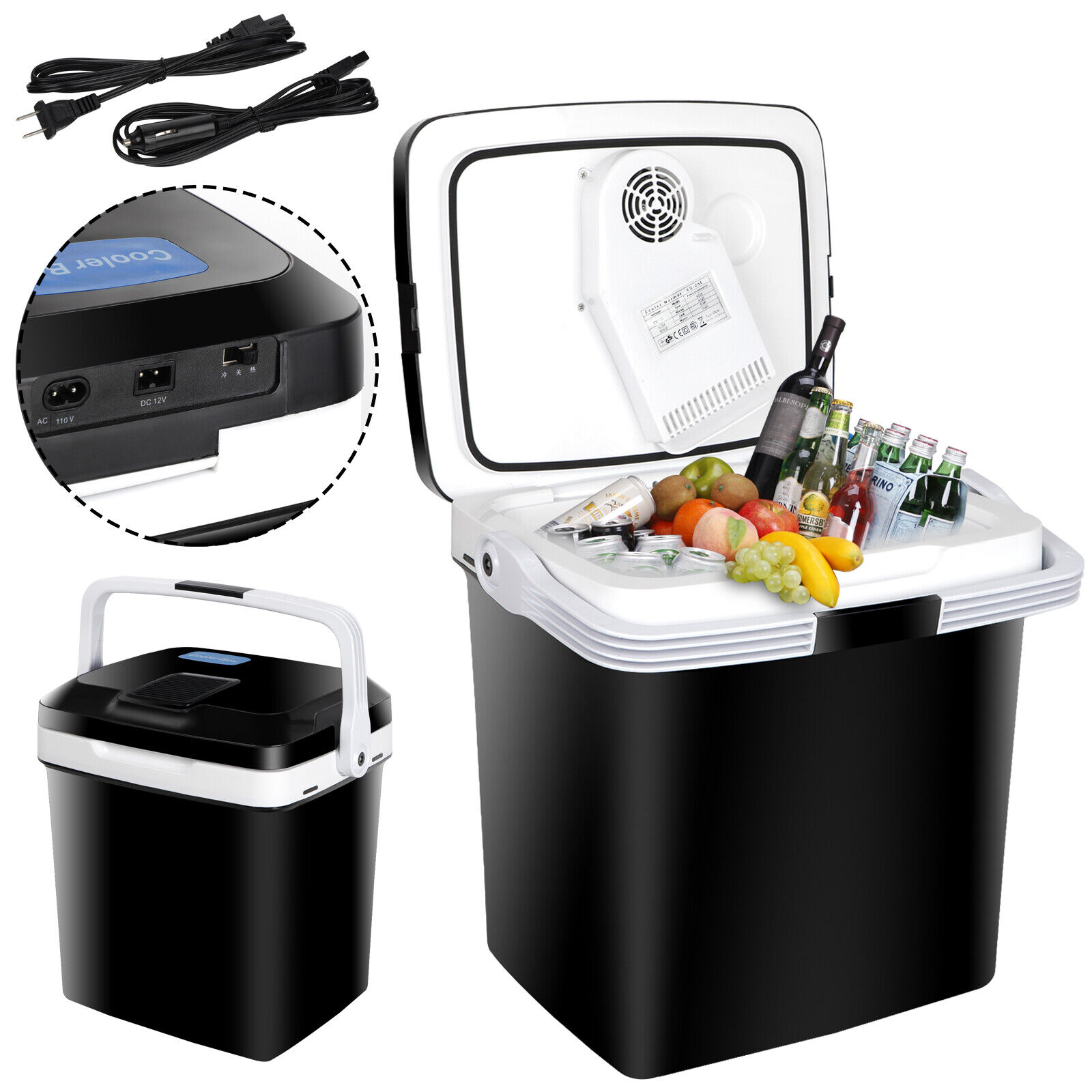 5.7Gal Car Iceless Thermoelectric Cooler&Warmer Travel Fridge For BBQ Camping12V Camping & Hiking