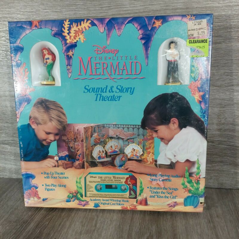 VTG Disney The Little Mermaid Sound & Story Theater Pop Up Theater and Cassette