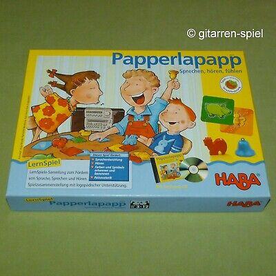 Papperlapapp Komplett 1A Top! Sprechen hören fühlen Logopädie Haba 4577 ab 3 J.