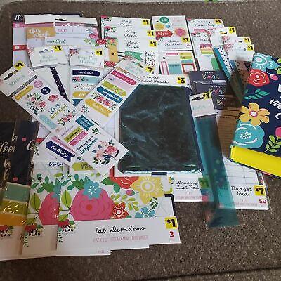 Huge Lot Of Organizer Calendar 3 Ring Binder Stationary Set Floral Planner