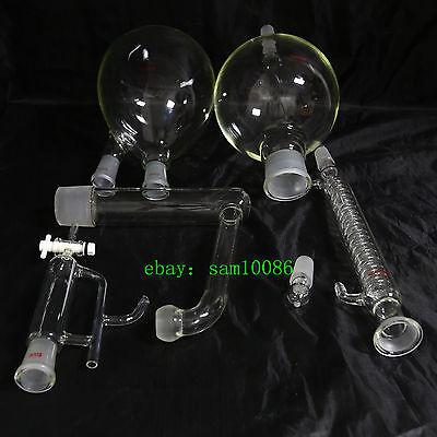 Essential oil steam distillation kit,Graham Condenser,All Glassware,lab,chem