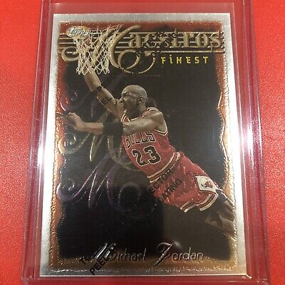 1996-97 Topps Finest Maestros Michael Jordan #127 M35 Insert with Coating, Rare!