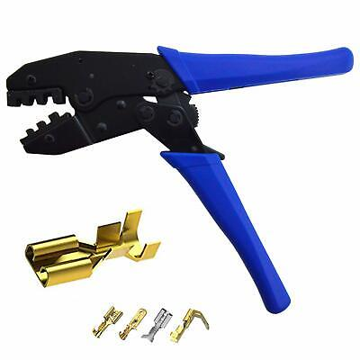 Durable Ratcheting Crimper For Non-insulated Or Open Barrel Terminals 20-10 Awg