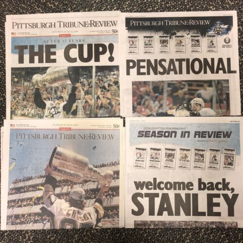 2009 Pittsburgh Penguins Stanley Cup Championship Tribune Review Newspapers - $12.99