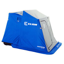 """Clam Nanook 87"""" x 61"""" Portable 2 Person Ice Fishing Shelter with Padded Seats"""