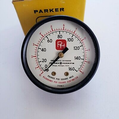 Parker Hannifin Pressure Gauge P78164-2 New In Box New Old Stock