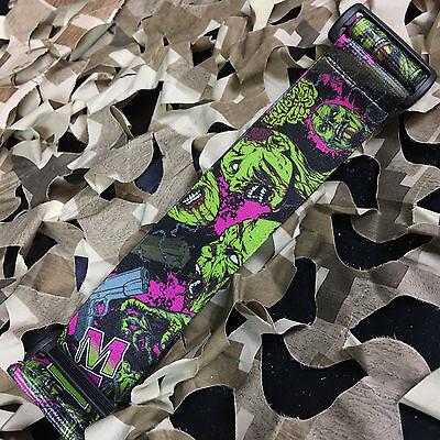 NEW KM Paintball Universal Mask Goggle Strap Limited Edition Punk Rock Grey
