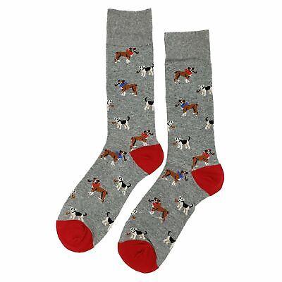 NWT Smoking Dog Dress Socks Novelty Men 8-12 Gray Fun Sockfly (Smoking Socks)