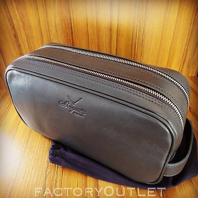 Breguet TOILETRY BAG Navy Blue Leather Large BEST QUALITY (Best Travel Bags 2019)