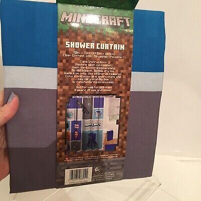 Blue MINECRAFT Shower Curtain 72