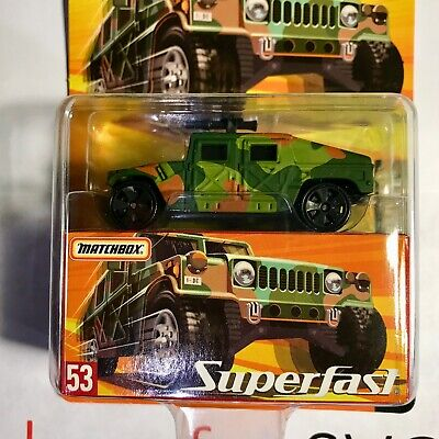 NEW - #53 MATCHBOX 'Superfast' Military Humvee 1:64 Scale H7780 Hummer Camo