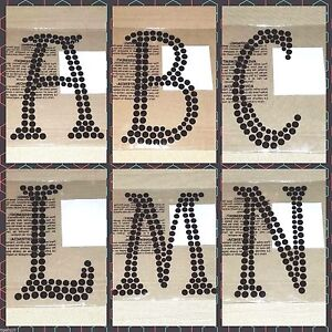Recollections craft it halloween 6 inch black rhinestone for Large adhesive rhinestone letters