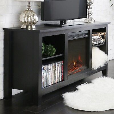 """Best Electric Fireplace TV Stand 58"""" Heater Living Room Bedroom Home Improvement"""