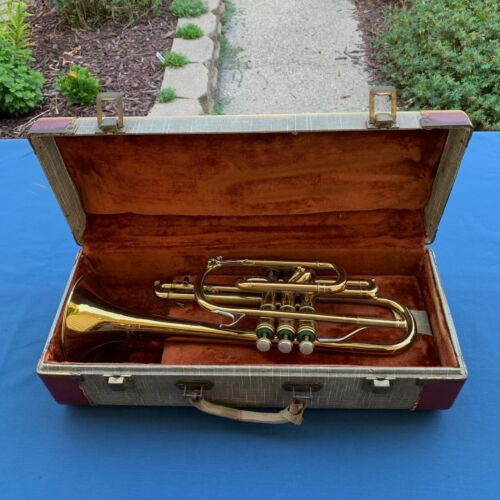 Vintage Martin The Indiana Bb Cornet Plays and Sounds Good 66372