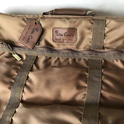 Pierre Cardin Tan Garment Suit Dress Bag Vintage Folding Carrier