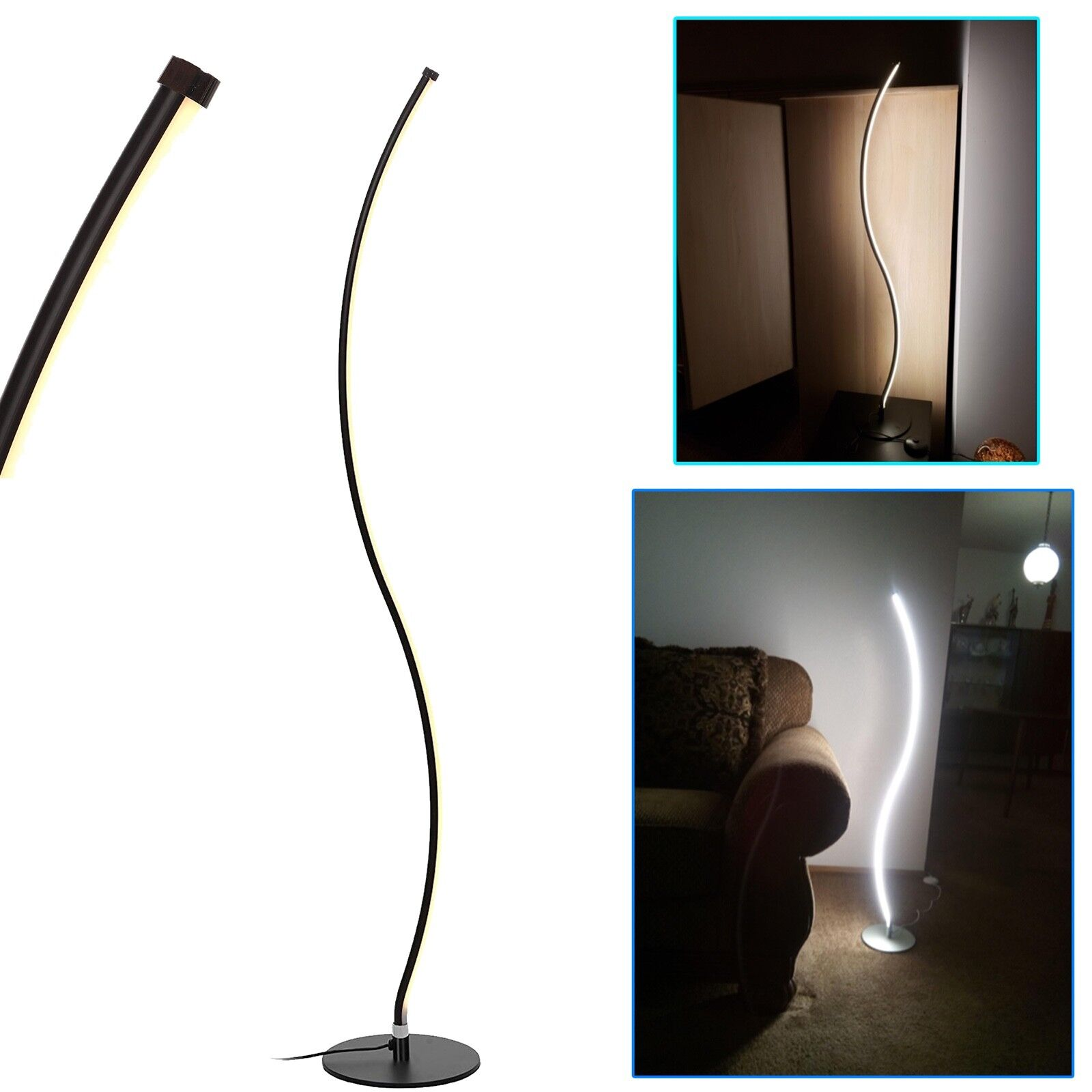 Floor Lamps Living Room Lamp Arc LED Modern Over the Sofa Li
