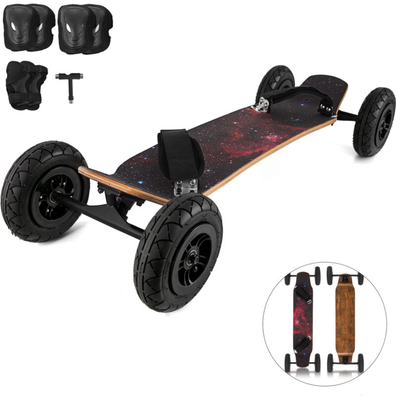 95X Mountainboard Skateboard Longboard 37x8inch Off Road Knobby Tires Starry Sky