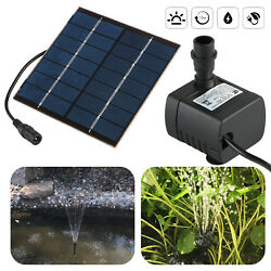 Fountain Pump Solar Water Panel Power Kit Pool Garden Pond Watering Submersible