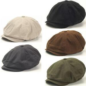 MEN'S Fashion Basic Eight Panel Gatsby Style IVY CAP Ascot Newsboy ...