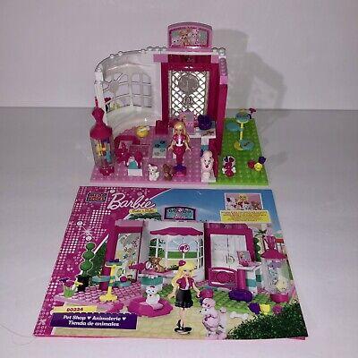 Mega Bloks Barbie Build 'n Play Pet Shop 80224 Complete Building Set Cat Dogs