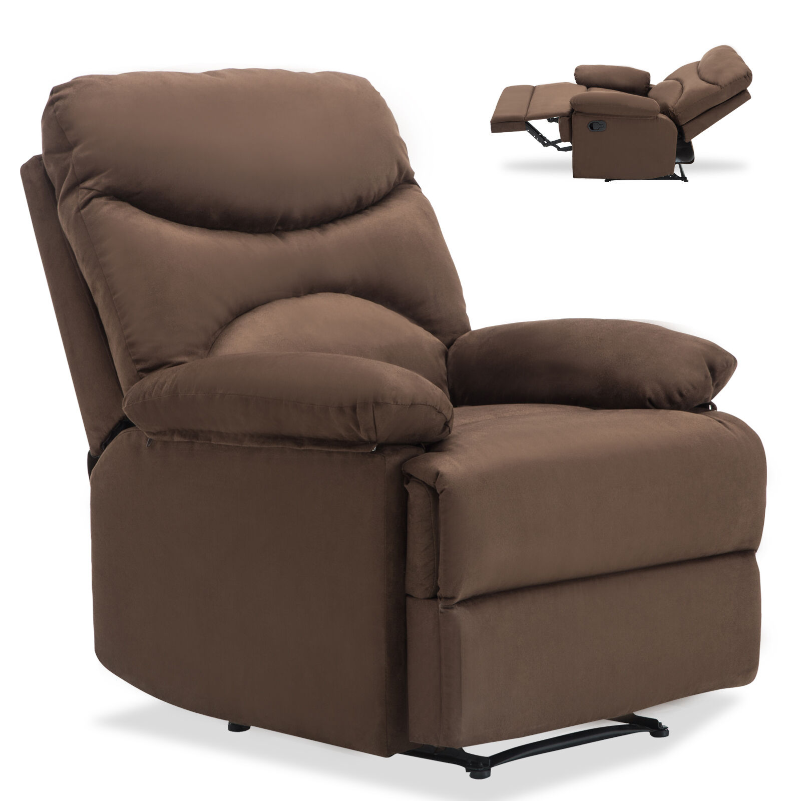 Beau Microfiber Massage Recliner Sofa Chair Ergonomic Lounge Swivel Heated  W/Control