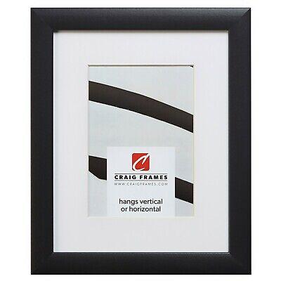 Craig Frames 1WB3BK 18x24 Black Picture Frame Matted to Disp