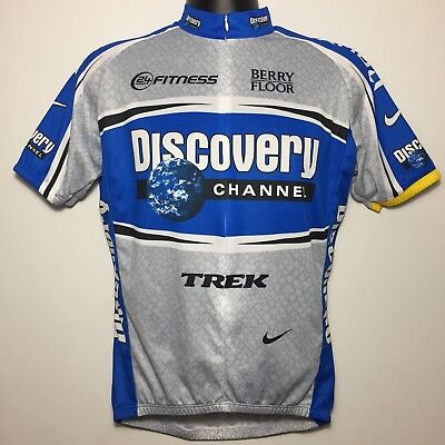 89d921c4b Nike Dri Fit Sublimated Discovery Channel Bike Cycling Jersey Shirt Blue  (Large)