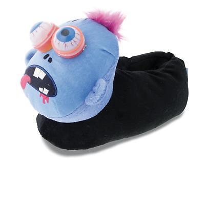 Halloween Monster Tier Hausschuhe Pantoffel Schlappen Kinder Schwarz (Halloween Schuhe)