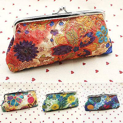 Ladies Vintage Floral Wallet Clutch Purse Long Womens Handba