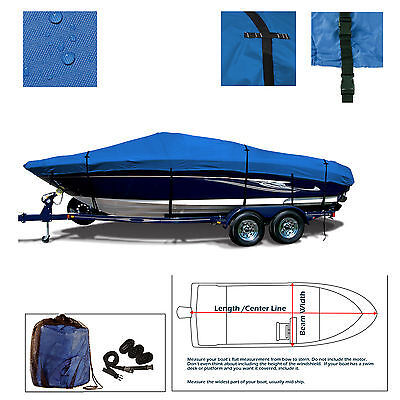 Advantage 30 Victory Trailerable performance Jet Boat Cover Blue