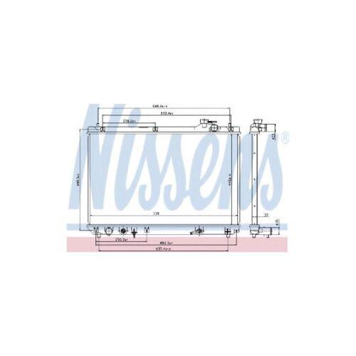 Genuine Nissens Engine Cooling Radiator - 64659