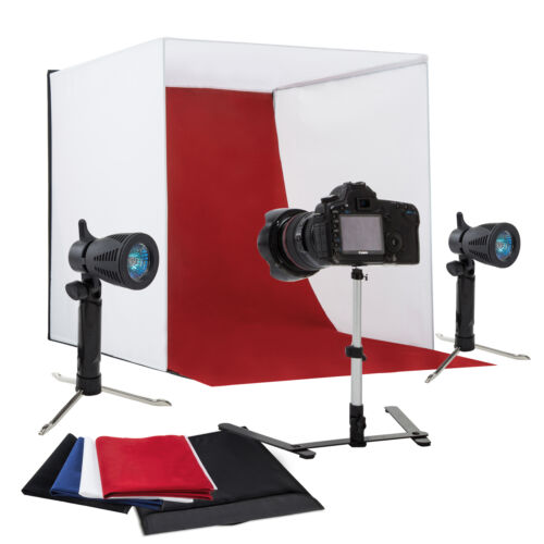 "Photo Studio 24"" Photography Light Tent Backdrop Kit Cube Lighting Kit In A Box"