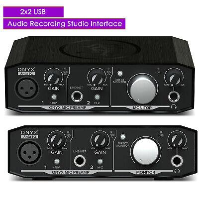 New Mackie Onyx Artist 1.2 2x2 USB Audio Recording Studio Interface - UC Mackie Onyx Recording