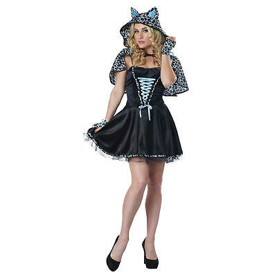 NEW Totally Ghoul Snow Leopard Blue Women Halloween DressUp Costume Sz M sz 8-14 ()