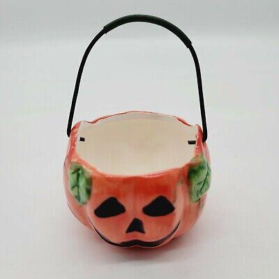 Vintage K's Collection Ceramic Pumpkin Holder