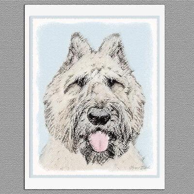 6 Bouvier des Flandres Dog Blank Art Note Greeting Cards