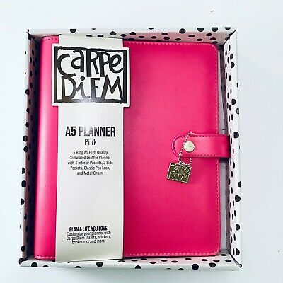 New Carpe Diem Simple Stories Planner A5 6 Ring Binder Pink Agenda Large