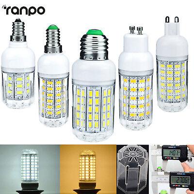 E26 E27 E12 E14 G9  GU10 5730 SMD LED Corn Bulb 9W 12W 18W 25W Light White Lamp