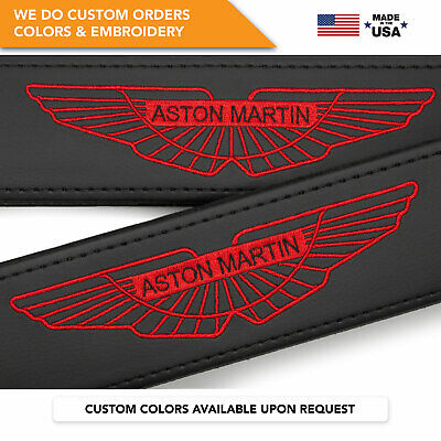 Seat Belt Covers Shoulder Strap Pads Custom Made Gift Fits Aston Martin Red 2PCS