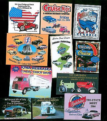"Car Show 100 Custom 1""x3"" Full Color Dash Plaques"