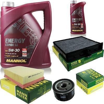 Oil Change Set 6L Mannol Energy Combi Ll 5W-30 + Mann Filter Service 10046261