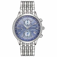 Citizen Eco-Drive Women's Atomic Chronograph World Time 38mm Watch FC5000-51L