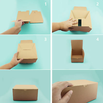 Brown Kraft Paper Box w/ Lids Cupcake Boxes Crafts Birthday Wedding Favors BULK](Favor Boxes Bulk)