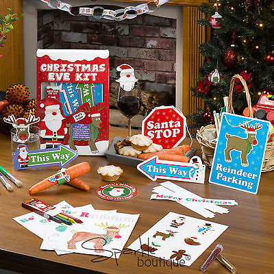 CHILDREN'S CHRISTMAS EVE CRAFT/ACTIVITY KIT -Santa Stop Here Signs, Paper Chains - Halloween Paper Chain Crafts