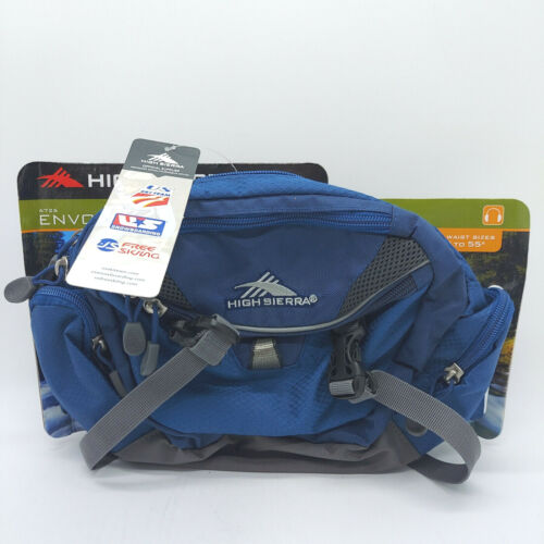 High Sierra Waist Pack Blue Fanny Hip Lumbar Bag Hiking Day Travel Blue Envoy