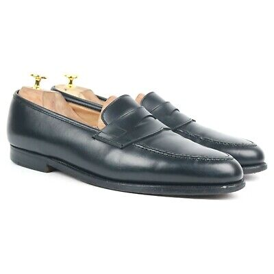 Crockett & Jones X Shipton & Heneage 'Wilton' Black Leather Loafers UK 11.5 EX