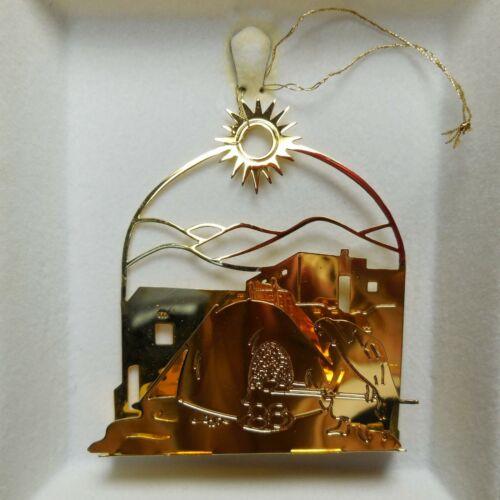 Tamerlane 24 kt Gold Plated Adobe Christmas Ornament 1983