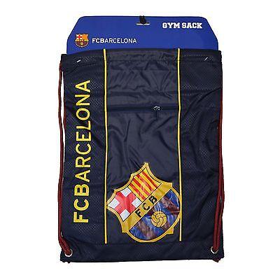 Fc Barcelona Cinch Bag Sack  Soccer Book  Backpack Authentic Official Blue